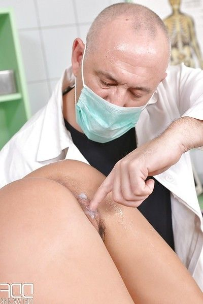 Bondage diva Anissa Kate receives her a-hole ploughed roughly by doctor