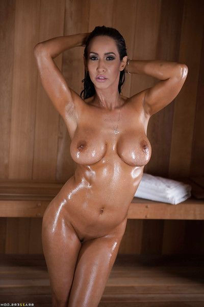 Latin cutie dear Isis Love revealing nifty a-hole for anal fingering in sauna