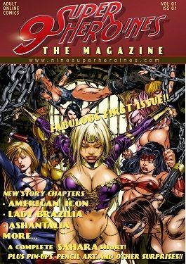 9 Super Heroines -The Magazine 1