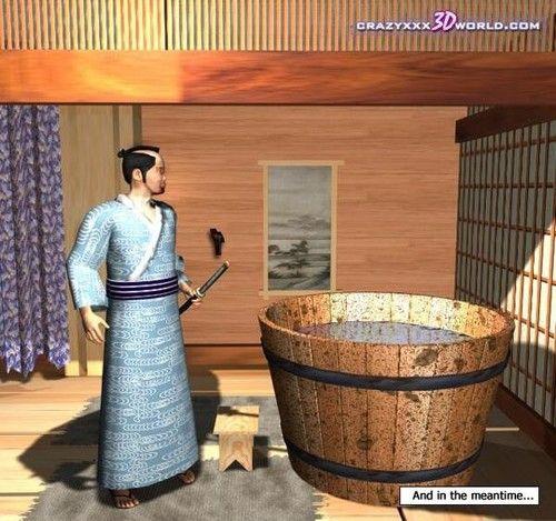 Samurai cheating housewife 3d hentai comics asian anime amulet a