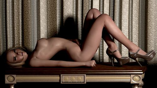 Awesome blonde poses naked together with demonstrates her awesome setting up