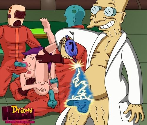 Futurama - Cubert Farnsworth and Aliens fuck Leela