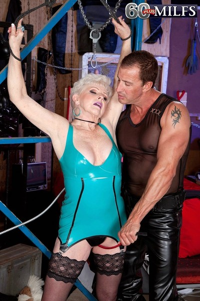 65yearold fit together bondaged coupled with fucked