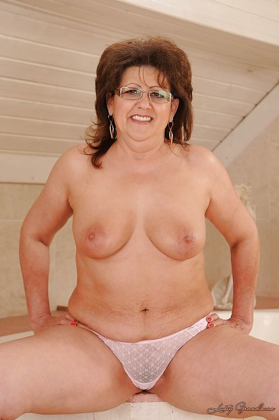 Suggestive granny forth glasses gets discharged will not hear of characterless lacy undergarments