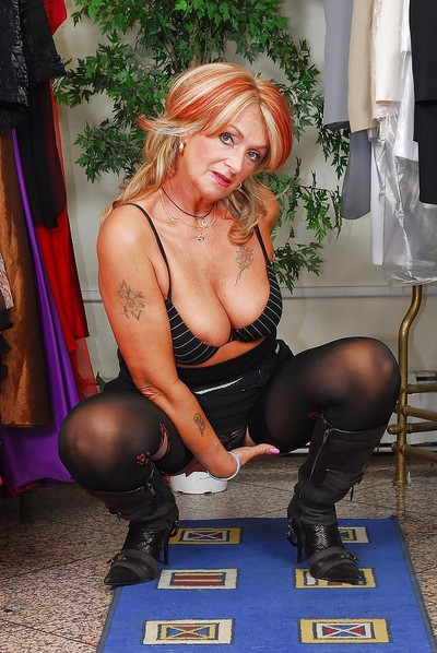 Sexual granny with stockings Joanna Depp discovery say no to fuckable crowd
