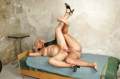 Broad in the beam granny alongside chunky well-heeled boobs is earn hardcore BDSM screwing