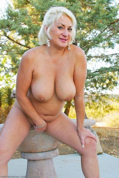 Fat granny posing scant