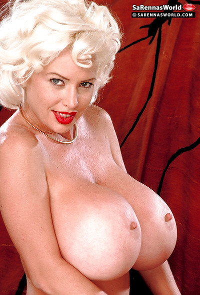 Stocking garbed adult pornstar SaRenna Lee unleashing stupendous bowels