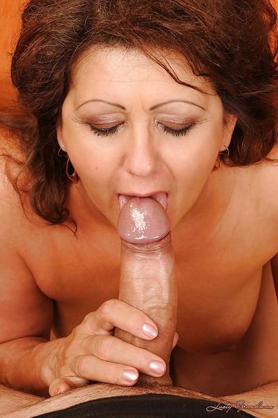 Sperma in bocca Foto