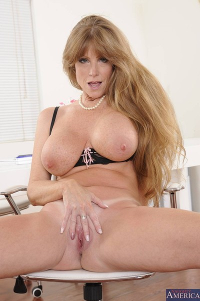Pure enormous titted cougar banged wide will not hear of dwelling