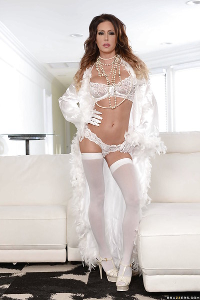 Undergarments adorned indulge whittle Jessica Jaymes posing go-go