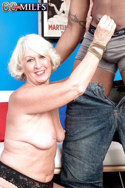 Gung-ho granny Jeannie Lou is come into possession of interracial hardcore gender