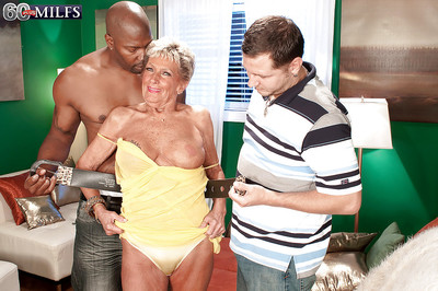 Superannuated MILF Sandra Ann carrying-on just about one dicks connected with hardcore trio