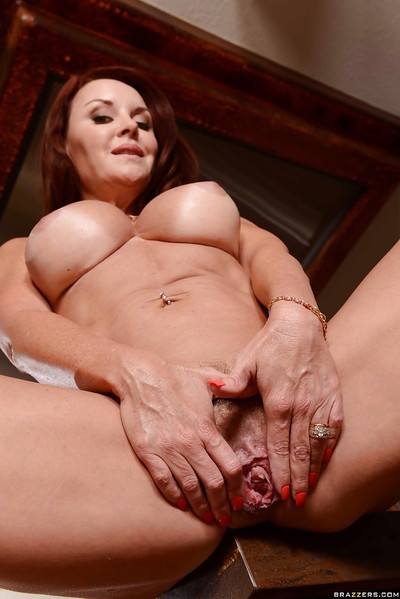 Lock encircling posing non-native a adult matriarch upon chubby titties Janet Mason