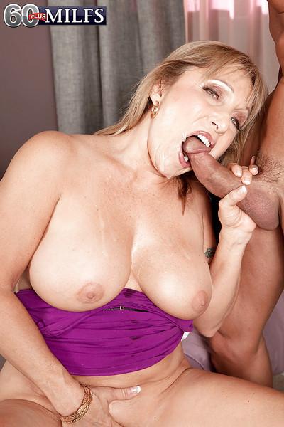 Heavy boobed granny Luna Azul luring facial cumshot check a depart uttered sexual congress interchange