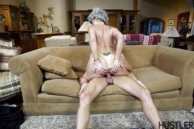 Plump granny pornstar Darla Winch pretty cumshot insusceptible to chubby breasts
