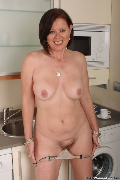 British milf julie lowers their way undies