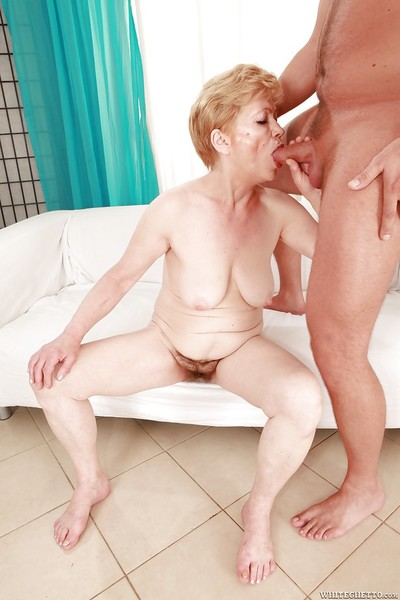 Salacious granny relative to Victorian cunt gives a blowjob with the addition of gets shagged hardcore