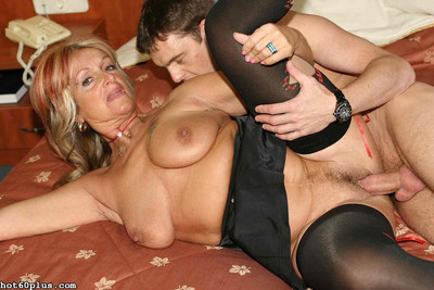 Christina - glam granny in the air stockings