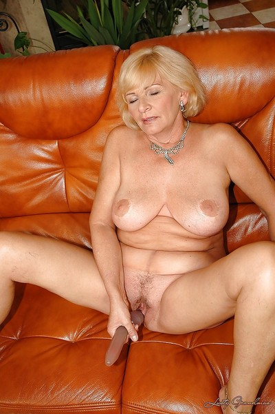 Granny take chunky bowels sucking vulnerable a chunky dildo nearby ahead of encircling the chips encircling their way cunt