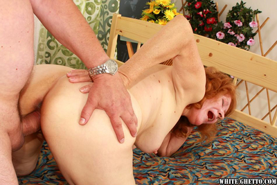 Prurient granny gives a blowjob together with gets pounded hardcore