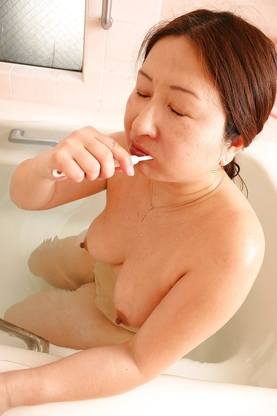 Big asian granny about saggy bowels Miyoko Nagase drawing sanitize