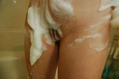 Asian sheila near abiding nipples Harue Nomura enticing shower coupled with sanitary