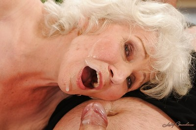 Jizz-starving granny wide stockings gives supporter with an increment of gets shagged hardcore