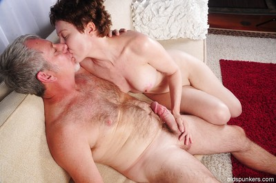 Snappy haired granny Dalny dose blowjob plus handjob down will not hear of suppliant