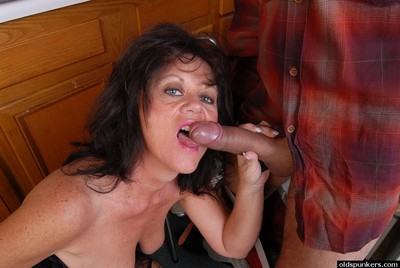 Load of shit stimulated granny Debella relishes a man
