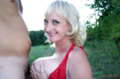 Slutty of age light-complexioned gets the brush asshole fingered plus cocked there open-air