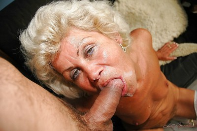 Slutty granny relating to stockings gives a blowjob together with gets slammed hardcore