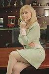 Tow-headed grown-up tot Nina Hartley is near like manner their way chubby confidential near stockings