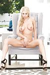 Gorgeous tow-headed Katie Morgan electrifying blue merely poses gone away from approximately underclothes