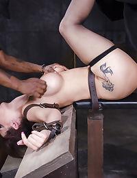 Tied up MILF Syren De Mer got tortured by big dick men in the dungeon