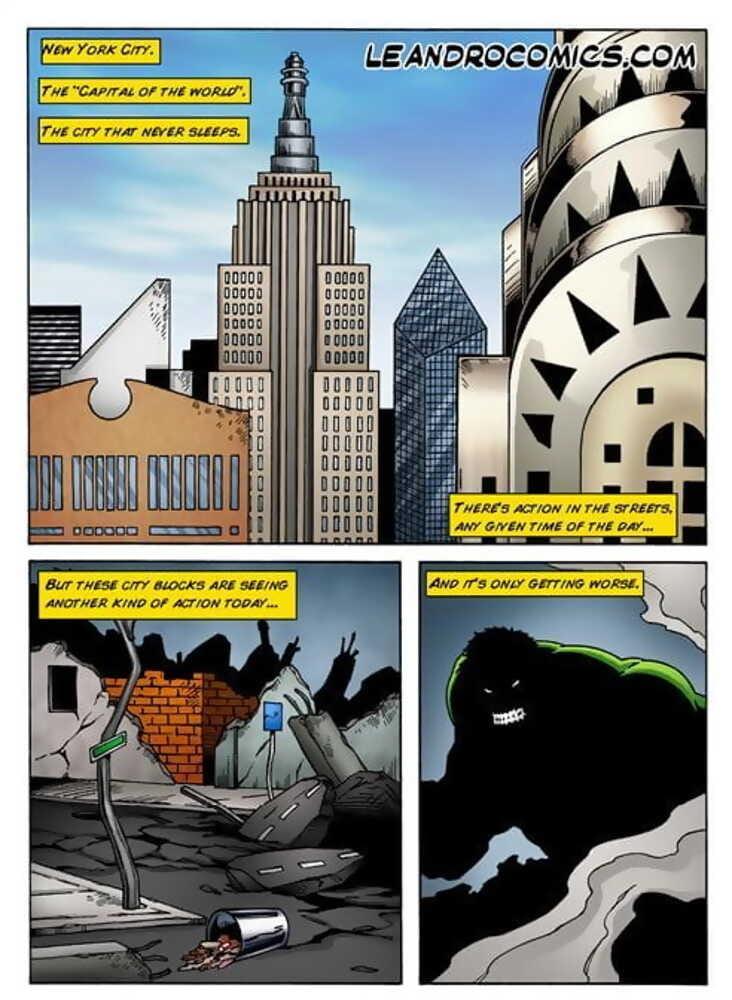 Wonder Woman versus the Incredibly Horny Hulk!