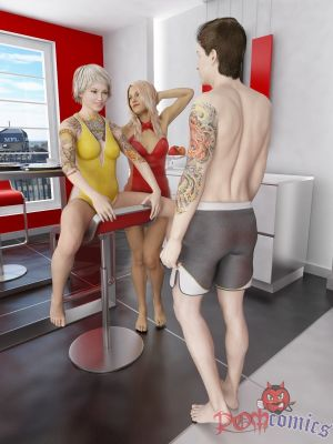 3Dincest- Lucky Son Fucks Mom And Sister