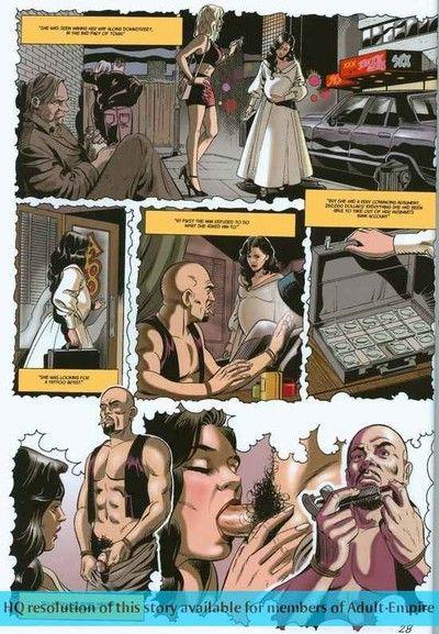 Blond nurse rides cock in hot sex comics