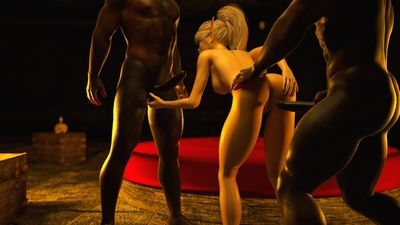Fantasy banging between sweet babes and horny creatures