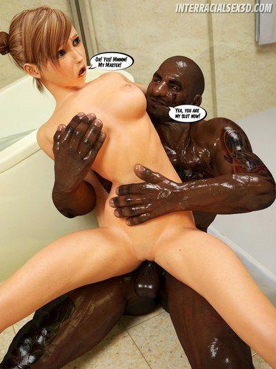 BigTrouble In Bathroom- InterracialSex3D - part 2